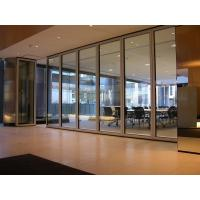 Buy cheap Interior Office 12 mm Tempered Sliding Glass Partition Wall Powder Coating from wholesalers