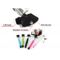 Buy cheap Colorful Red Foldable Cable Selfie Stick Monopod for smartphone / camera product