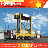 Buy cheap 40t rubber tyre stacking container low profile Container gantry crane, staddle carrier from wholesalers