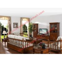 Buy cheap Solid Wooden Carving Frame with Fabric Upholstery Sofa Set in Living Room Set from wholesalers