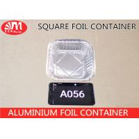 Buy cheap Square Shape Disposable Foil Containers, A056 Aluminium Foil Cooking Trays320ml Volume from wholesalers