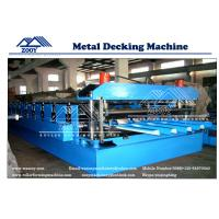 Buy cheap Roof Decking Structural Steel Plate Rollformer Machine With 22KW Main Power from wholesalers