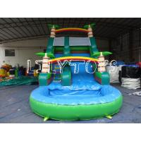 Buy cheap Lilytoys Green Park Inflatable Water Slide Customize Pvc With Palm Tree from wholesalers