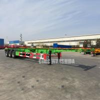 Buy cheap Tri axle 40 ft 20ft tank container chassis semi trailer manufacturer 3 axle container trailer chassis trailer for sale   from wholesalers