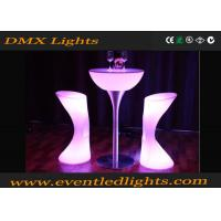 Buy cheap PE Plastic hire Led Cocktail Table / high bar lighted cocktail tables Modern from wholesalers
