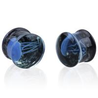 Buy cheap FPG-GLASS Sea Glow in the dark Jellyfish Luminous Ear Expander body jewelry from wholesalers