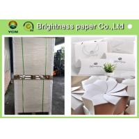 Buy cheap Glossy Coated Solid White Board , Carton Board Sheets For Making Postcard from wholesalers