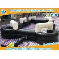 Buy cheap Black 0.55mm PVC Inflatable Football Pitch Billiards Table Snooker Ball Game For Soccer Bubble from wholesalers