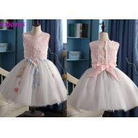 Buy cheap Gorgeous Cotton Kids Flower Girl Dresses / Baby Smocked Luxury Flower Girl Dresses from wholesalers