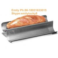 Buy cheap French Bread Pan Perforated metal Tray/aluminum alloy perforated baking tray from wholesalers