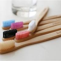 Buy cheap Round Natural  Bamboo Toothbrush , Environmentally Friendly Toothbrush For Adult / Kids product