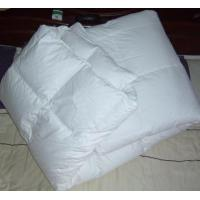 Buy cheap 100% cotton white duck down quilt duck feather quilt from wholesalers