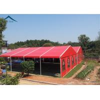 Buy cheap Aluminium Frame Large Wedding Tents Red Roof Beautiful Lining from wholesalers
