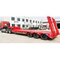 Buy cheap Steel Material 60T -70T Heavy Duty Semi Trailers Low Bed 3 Axles 12R22.5 / 12R20 Tire from wholesalers