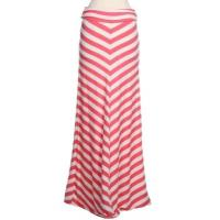 Buy cheap Coral / White Beautiful Chevron Women Dresses Skirts With V Stripe product