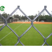 Buy cheap Black vinyl coated cyclone fencing standard 15 ft outdoor soccer field fence from wholesalers