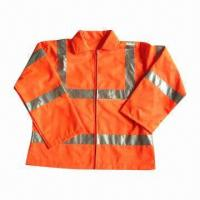 China Protective Reflective Safety Wear, Waterproof and Anti-oil, Durable and Good Extensibility on sale