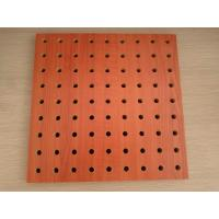 Buy cheap Polyester Fiber Rock Wool Perforated Wood Acoustic Panels For Cinema / Museum from wholesalers