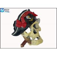Buy cheap Non-toxic Human Skull Cool Fish Tank Decorations , Eco Friendly Novelty Fish Tank Ornaments from wholesalers