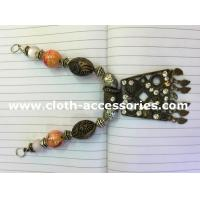 Buy cheap Copper Colored Handmade Beaded Necklaces Vintage Style 15cm Length from wholesalers