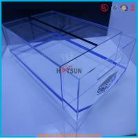 Buy cheap high quality plexiglass shoe box for package,wholesale custom clear acrylic shoe box hupbox sneaker display box from wholesalers