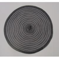 Buy cheap Black Polyester placemat , roung polyester placemat, knitting round placemat product