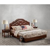 Buy cheap Leather / Fabric Upholstered Headboard Bed for Hotel Bedroom interior Furniture product