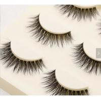 Buy cheap Custom Packaging False Strip Eyelashes Artificial 3d Fiber Lashes 100% Handmade from wholesalers