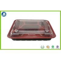 Buy cheap Customized Take Away Plastic Food Packaging Trays With Transparent Lid product