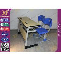 Buy cheap Double Seats Two Seaters Student Desk And Chair Set For Junior School from wholesalers