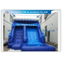 Buy cheap Blue Large Wet Inflatable Water Slide Into Pool For Water Amusement / Garden product