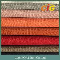 Buy cheap Polyester Linen Jacquard Upholstery Fabric / Upholstery Material For Sofa Furniture product