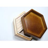 Buy cheap Dark Solid Wood Standing Jewelry Box , Gift Wood Hexagon Shaped Box from wholesalers