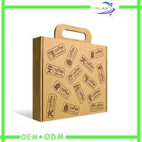 Buy cheap Brown Paper Shopping Bags , Twisted Kraft Paper Packaging Bags With Handle from wholesalers