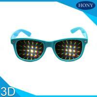 Buy cheap Durable Plastic Red 3D Firework Glasses 0.65mm Lens PC Frame product