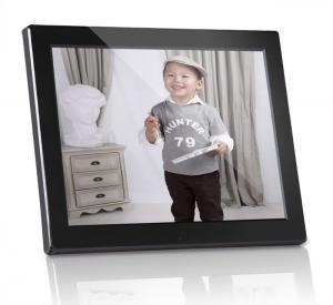 Buy cheap Plastic 12 inch Digital Photo Frames Motion Sensor With Calendar / Clock product