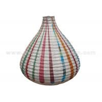 Buy cheap Unique Shaped Rice Paper Lamp with Circus Printing , Wedding Paper Lanterns from wholesalers