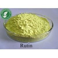 Buy cheap Natural Plant Extracts Rutin Pharmaceutical Raw Materials For Antidiabetic CAS 153-18-4 from wholesalers