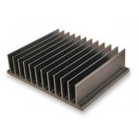 Buy cheap Bright Black Aluminum Heatsink Extrusion Profiles / Electronic Radiateor from wholesalers