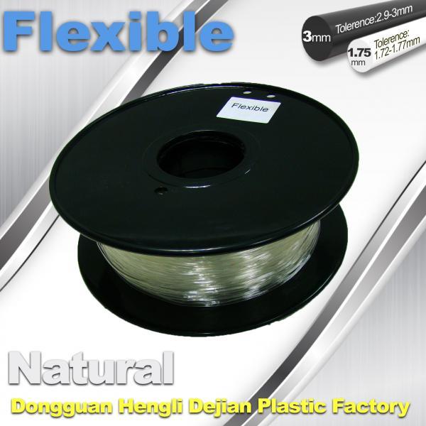 Quality Soft pla filament 1.75 / 3.0 mm Flexible 3d Printer Filament for 3d Rapid for sale