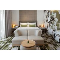 Fashion design of Apartment Hotel Room Natural Oak wood Bed and Lounge Bench Sitting Furniture
