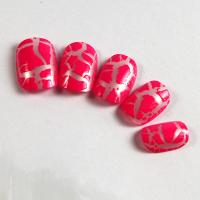 Buy cheap Prink cracking nail tips Kids Fake Nails with ABS material from wholesalers