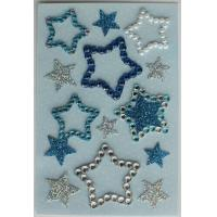 Buy cheap Rhinestone Colored Star Stickers , Transparent Crystal Small Star Stickers from wholesalers