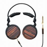 China Real Wood On-ear Headphones, Driver Sized Ø40mm on sale
