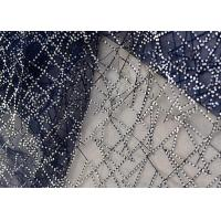 Embroidery Royal Blue Sequin Lace Fabric For Wedding Dress Evening Gown