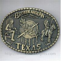 Buy cheap Vintage American Indians design metal belt buckle,old time antique brass metal belt buckle from wholesalers