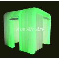 Buy cheap new design led lighting inflatable photo booth with hanging  door curtain from wholesalers