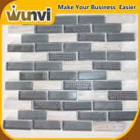 Buy cheap Glass and Stone Strip Premium Mosaic Tiles,kitchens with backsplash tiles from wholesalers