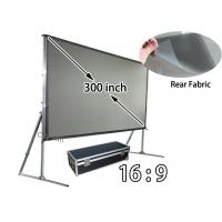 Buy cheap Widescreen 300'' Fast - Folding Projector Screen , Collapsible Movie Screen For Stage from wholesalers