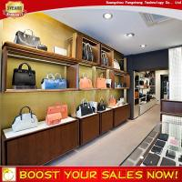 Buy cheap Nice customized MDF slatwall display shelves for handbag shop decoration from wholesalers